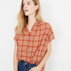 NWT Madewell Central Plaid Shirt